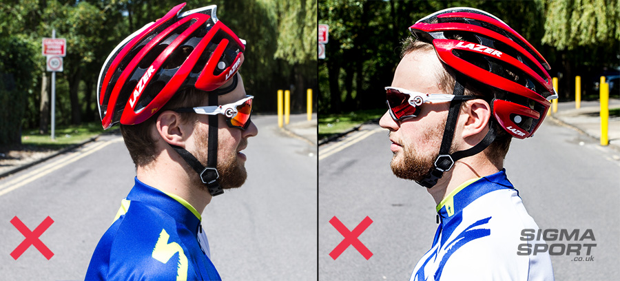 Helmet guide wrong