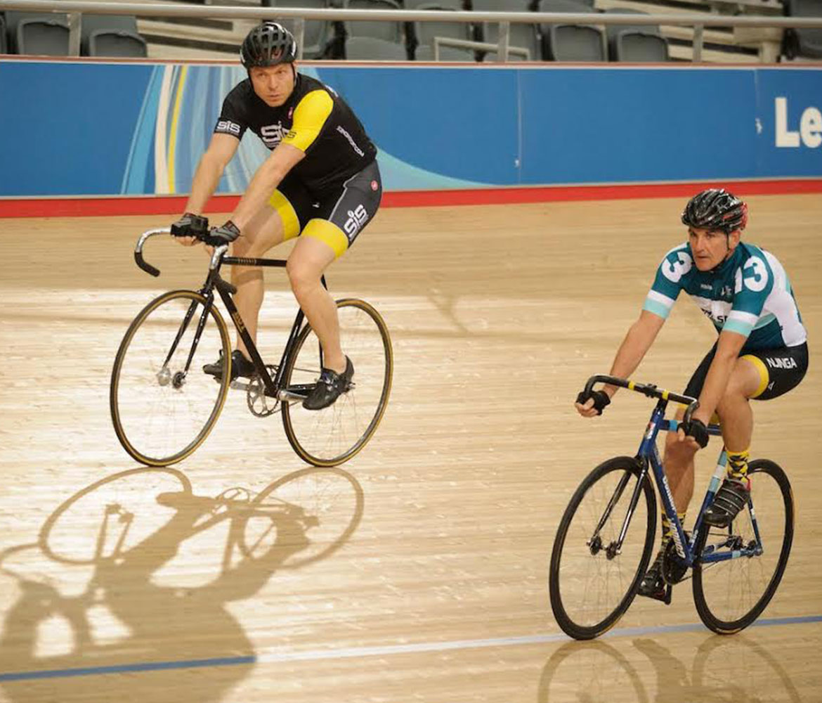 Sir Chris Hoy coaching at The Velodrome Pursuit
