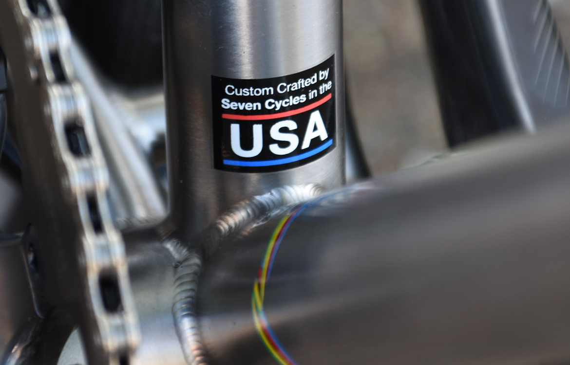 Seven Cycles Axiom SL Road Frameset made in the USA badge
