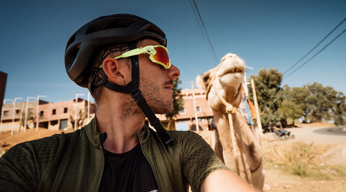 A Cyclists Bucket List Morocco and the Atlas Mountains Francis Cade and a Camel