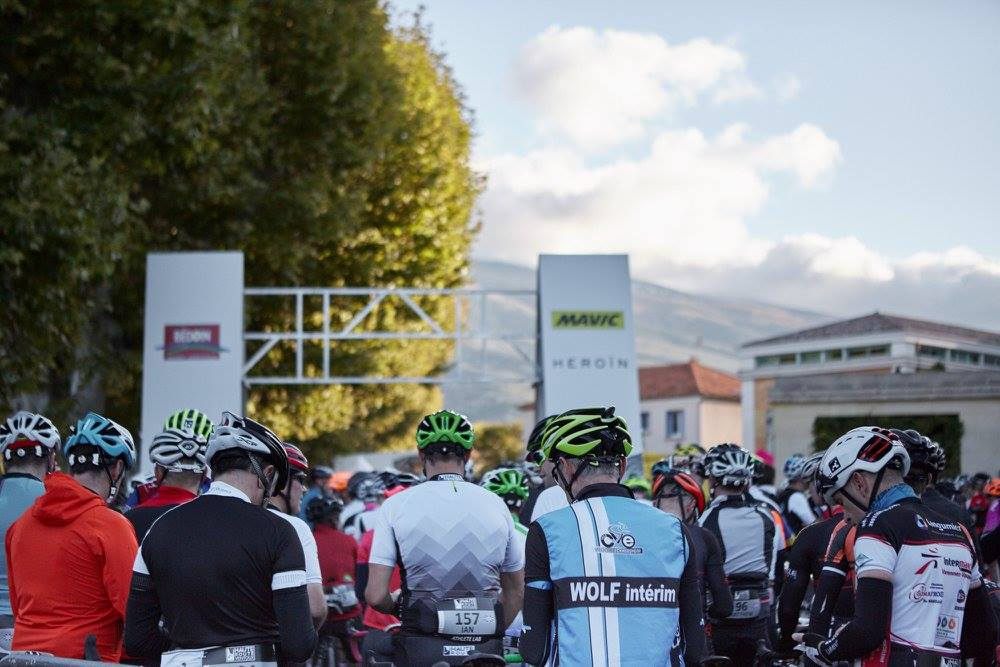 Haute Route Ventoux Start Line Riders