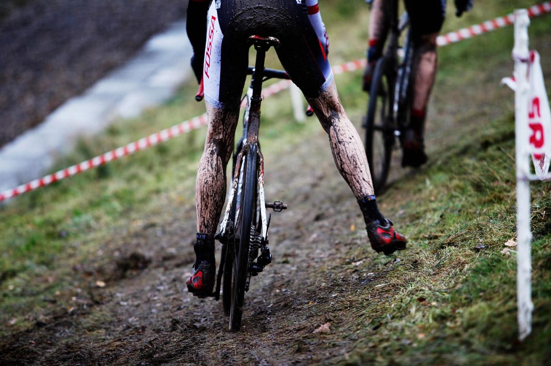 Cyclocross off camber corner