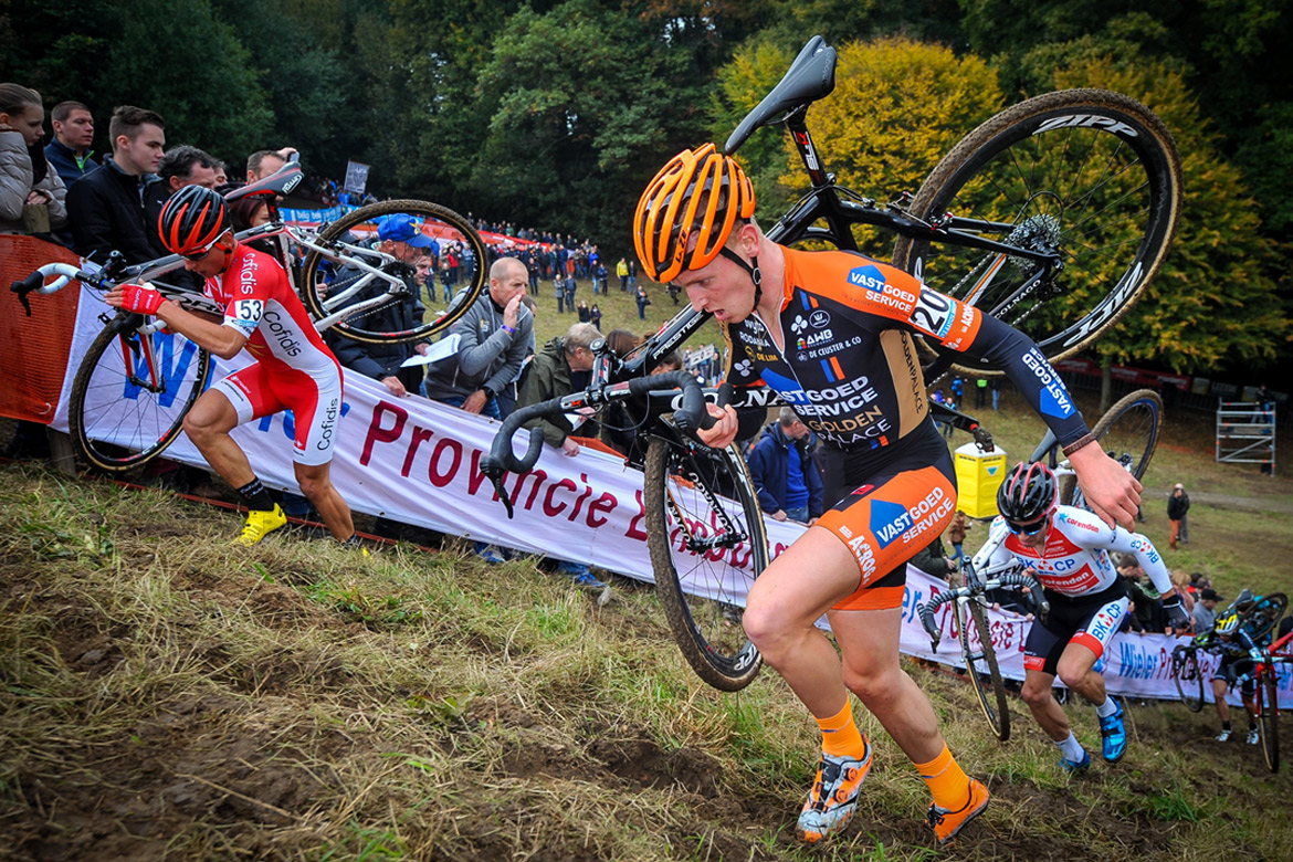 Shouldering Cyclocross Bike