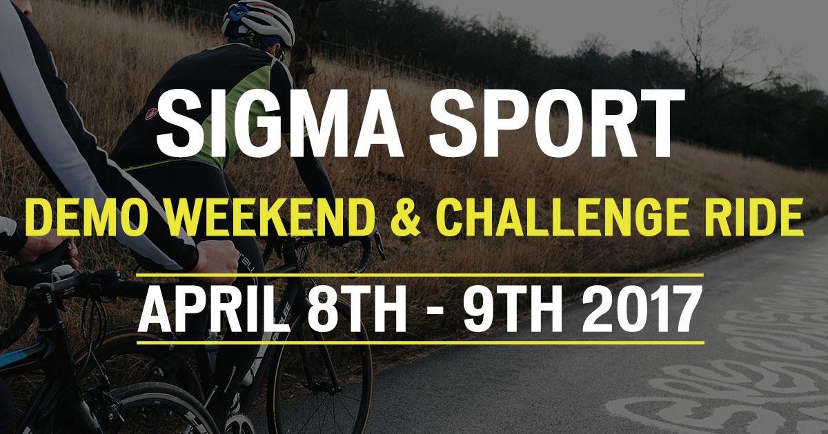 Sigma Sport Demo Weekend and Challenge Ride