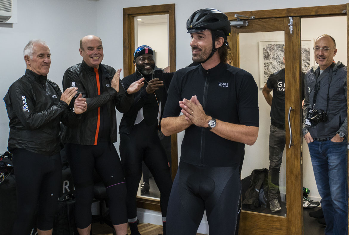 Fabian Cancellara meets VIP guests