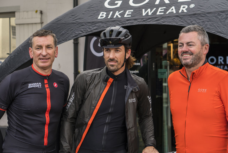 Fabian Cancellara and Ian Whittingham in Gore Bike Wear