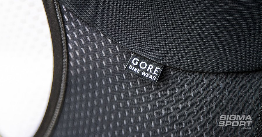 Gore Power bib short mesh detail