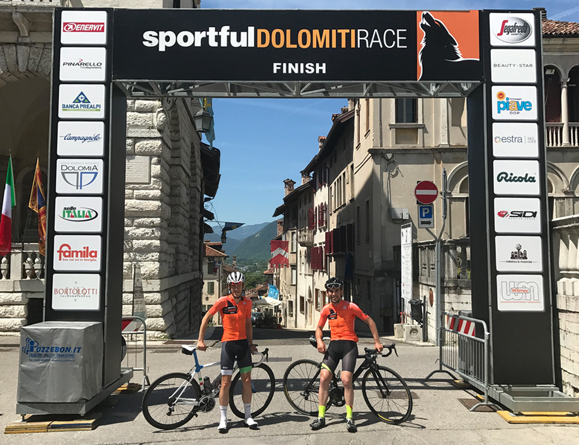 Sportful Dolomiti Gran Fondo Finish