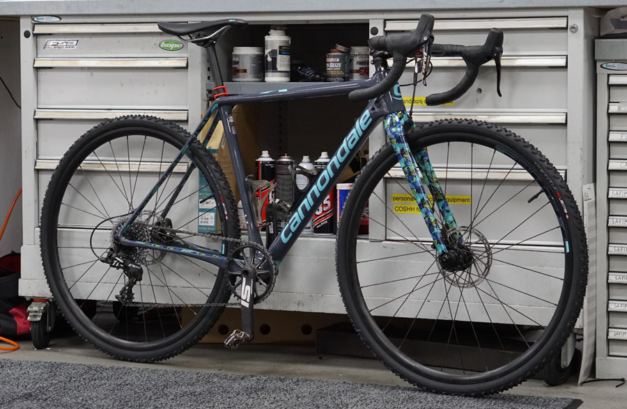 Cannondale SuperX cyclocross with tubeless tyres fitted