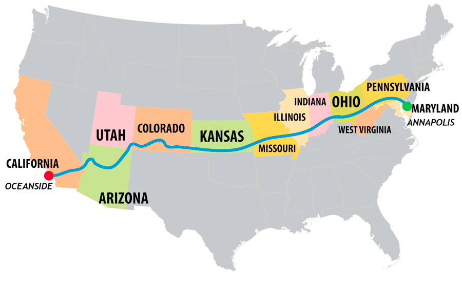 Race Map Of America.Preparing For Race Across America Blog Sigma Sports