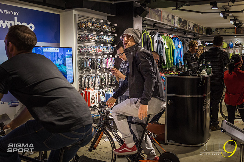 Rule9 Winter Cycling Event 2015 Zwift Wahoo Demo Centre Jason Bradbury