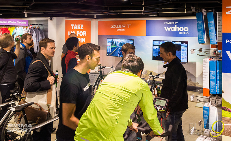 Rule9 Winter Cycling Event 2015 Zwift Wahoo Demo Centre
