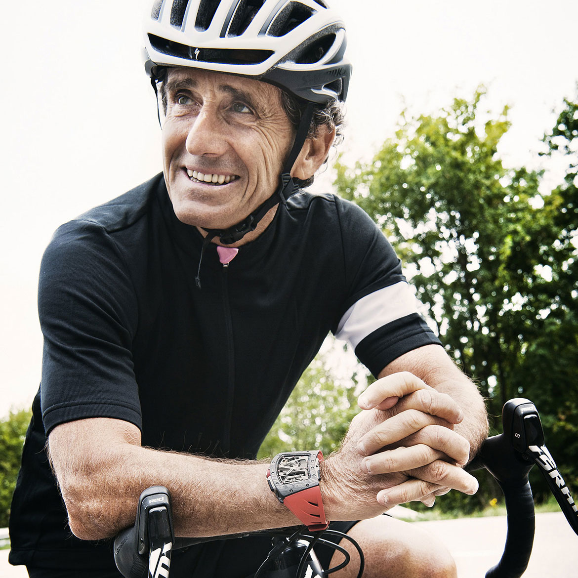 Richard Mille RM 70-01 Tourbillon Alain Prost Watch on bike