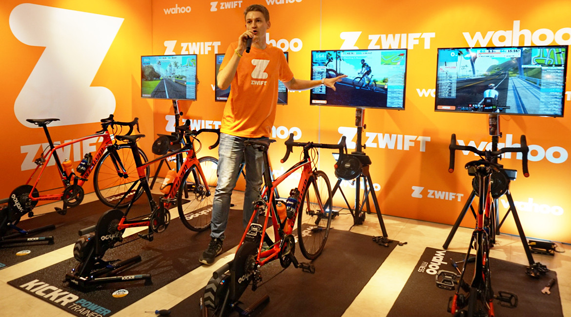 Zwift UK Tour London Announcer