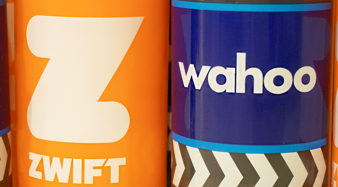 Zwift UK Tour London Wahoo and Zwift Water Bottles