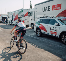 Behind The Scenes At La Vuelta a España with UAE Team Emirates