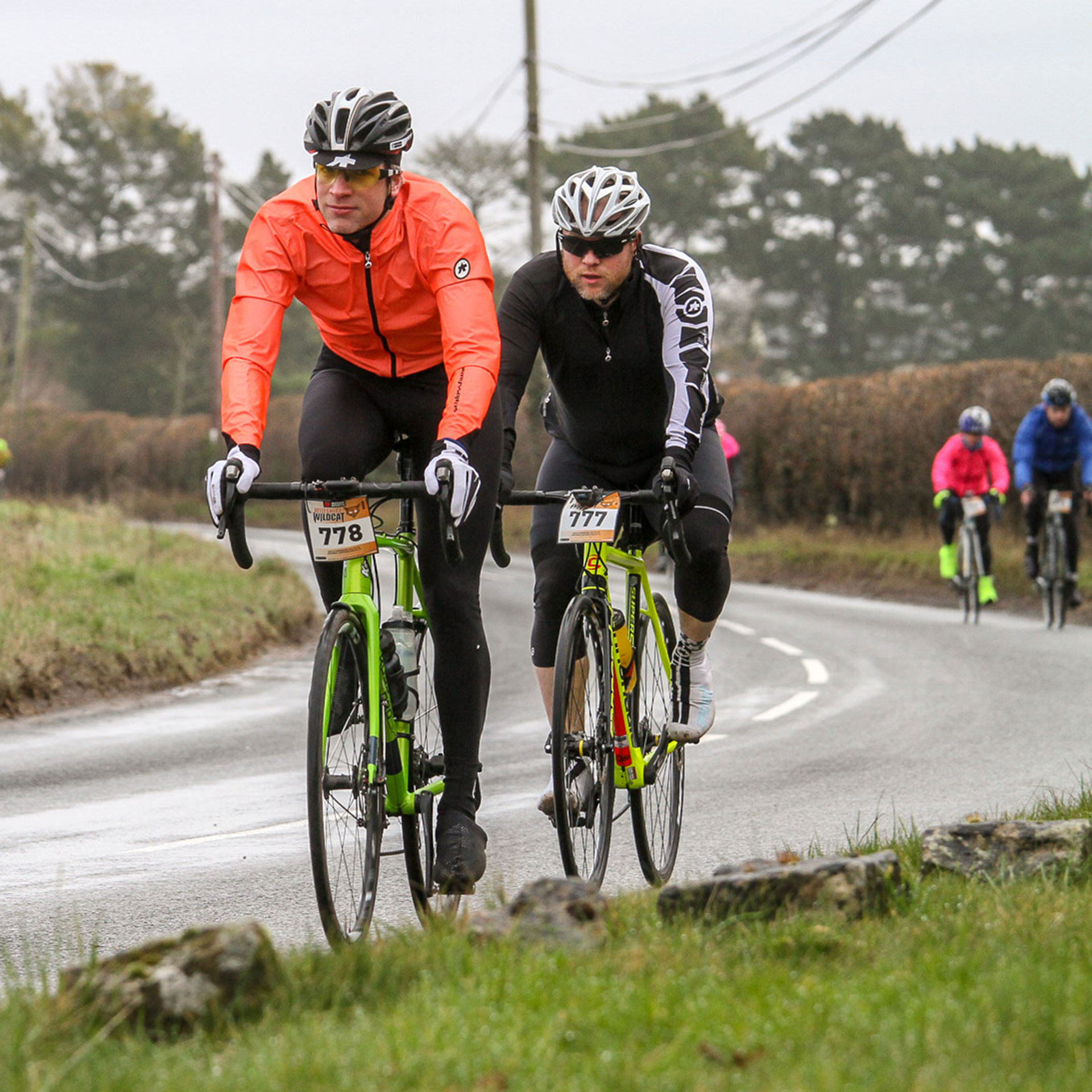 Cyclists Riding Wiltshire Wildcat Sportive