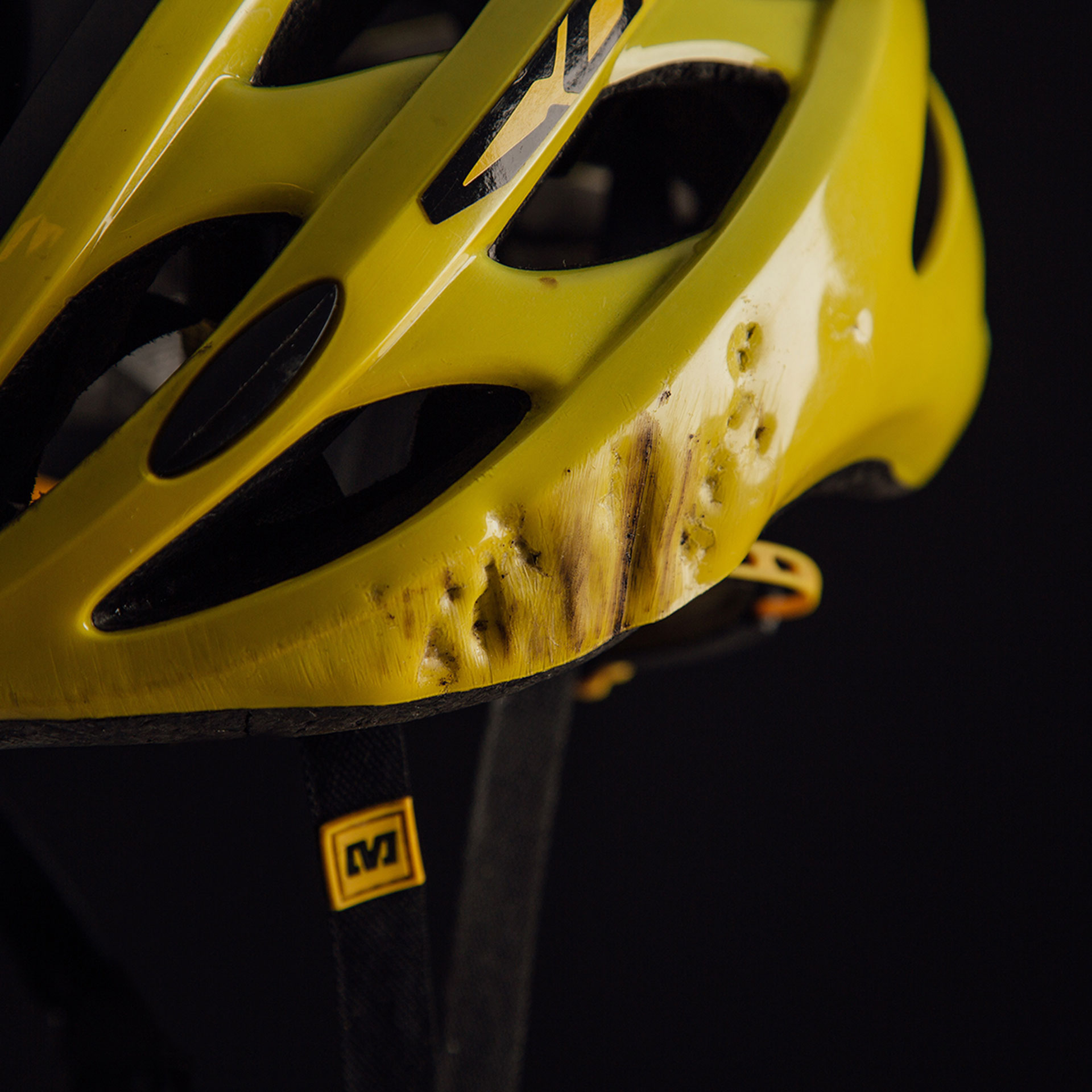 Mavic Helmet Crash Damage