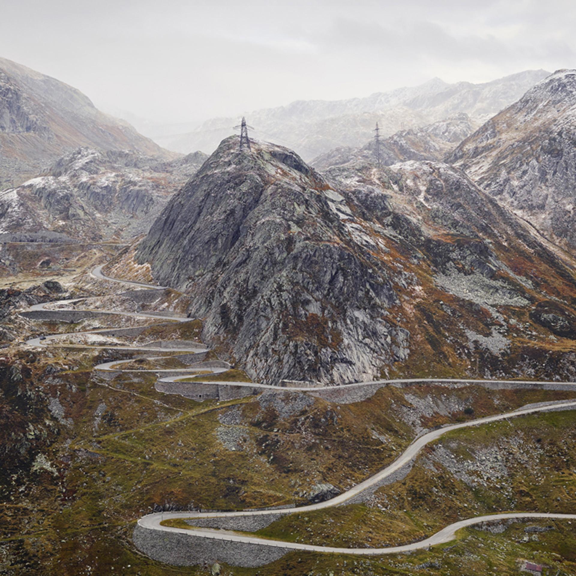 Michael Blann Gotthard Pass Cycling Photograph
