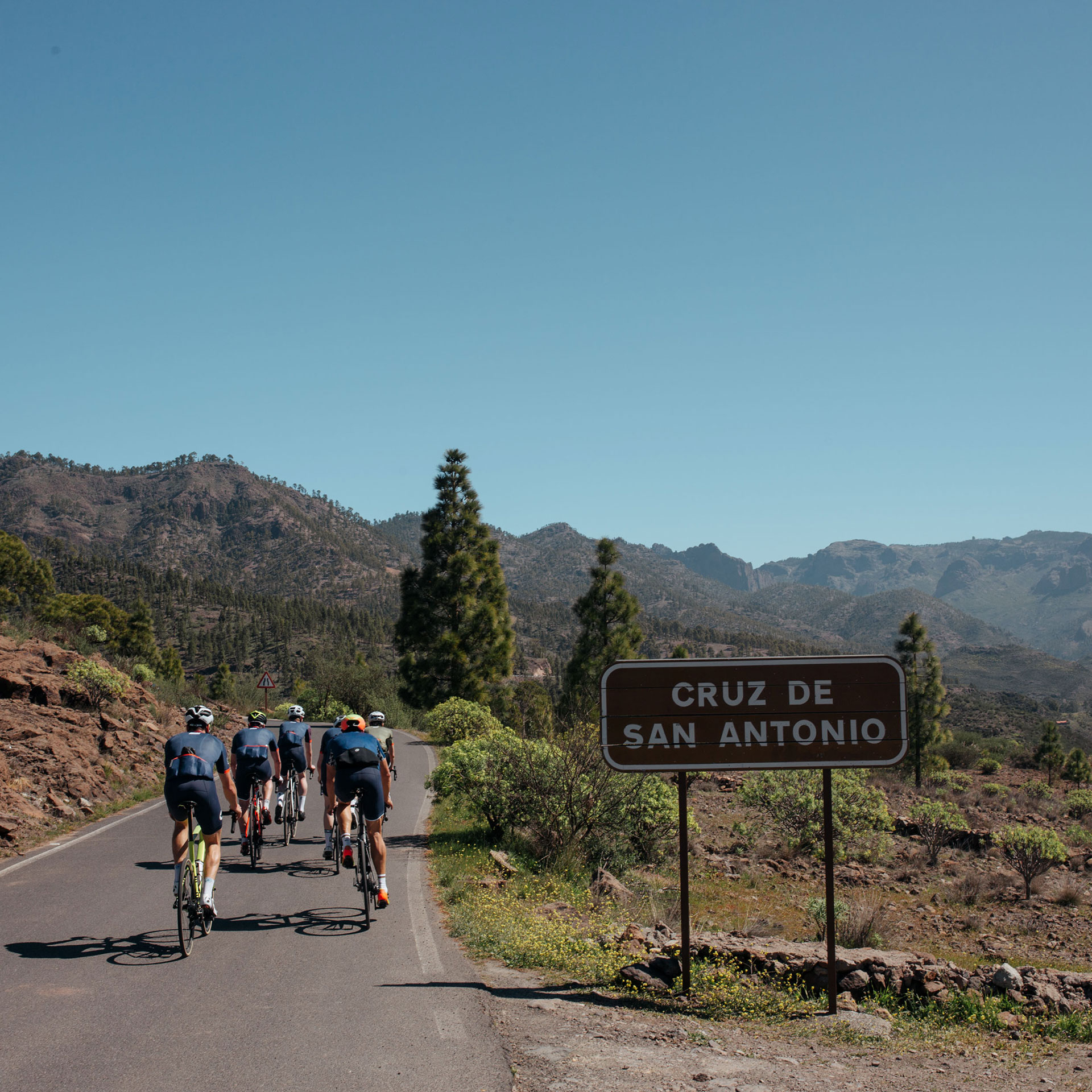 Cyclists in Gran Canaria