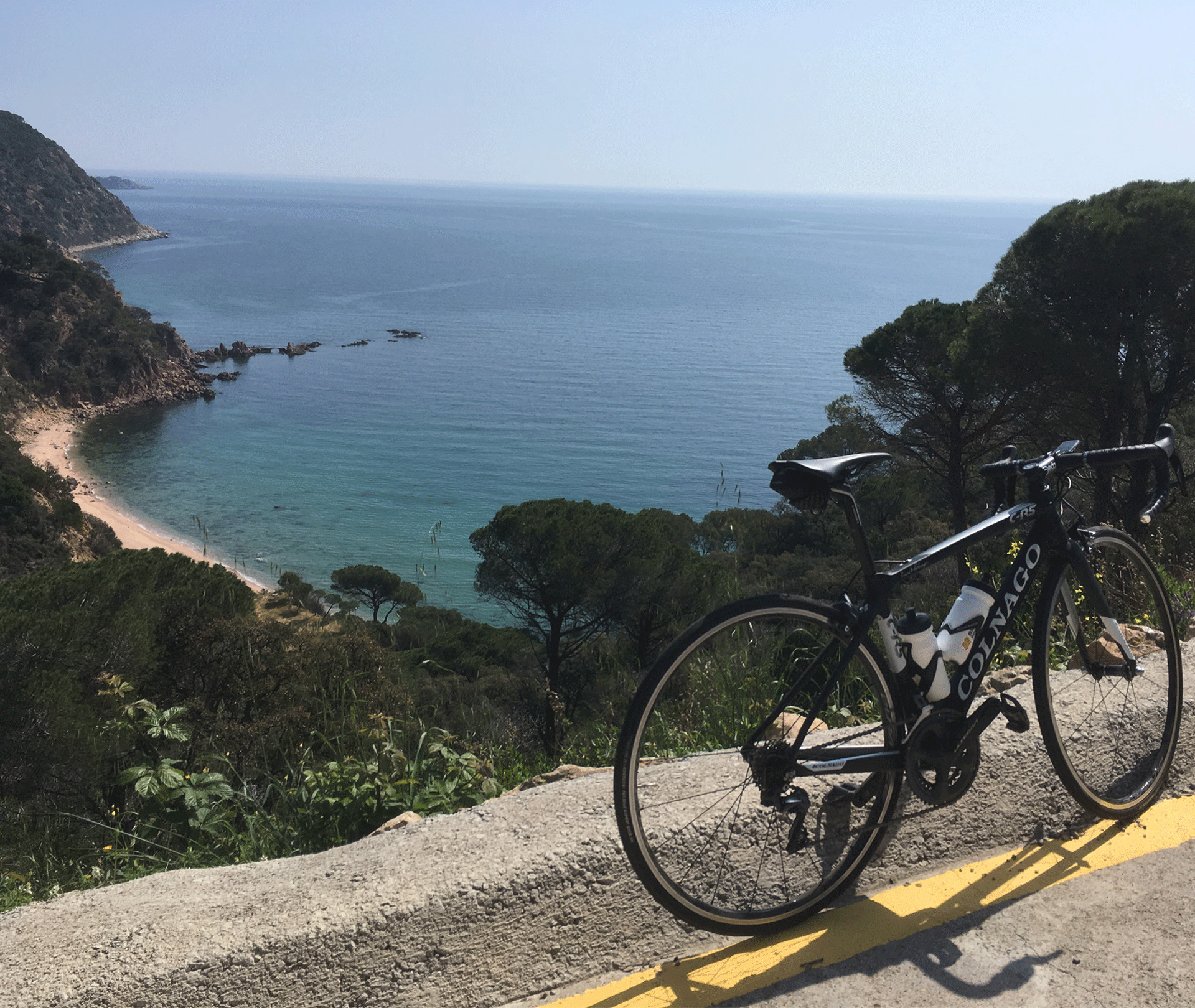 Colnago on coastal road