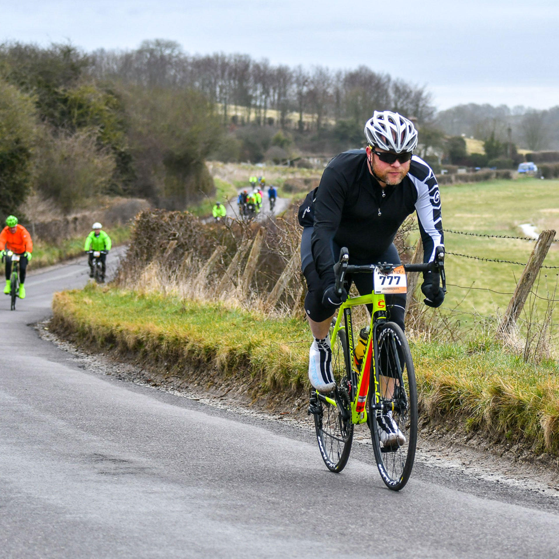 Cyclist Riding the Wiltshire Wildcat Sportive