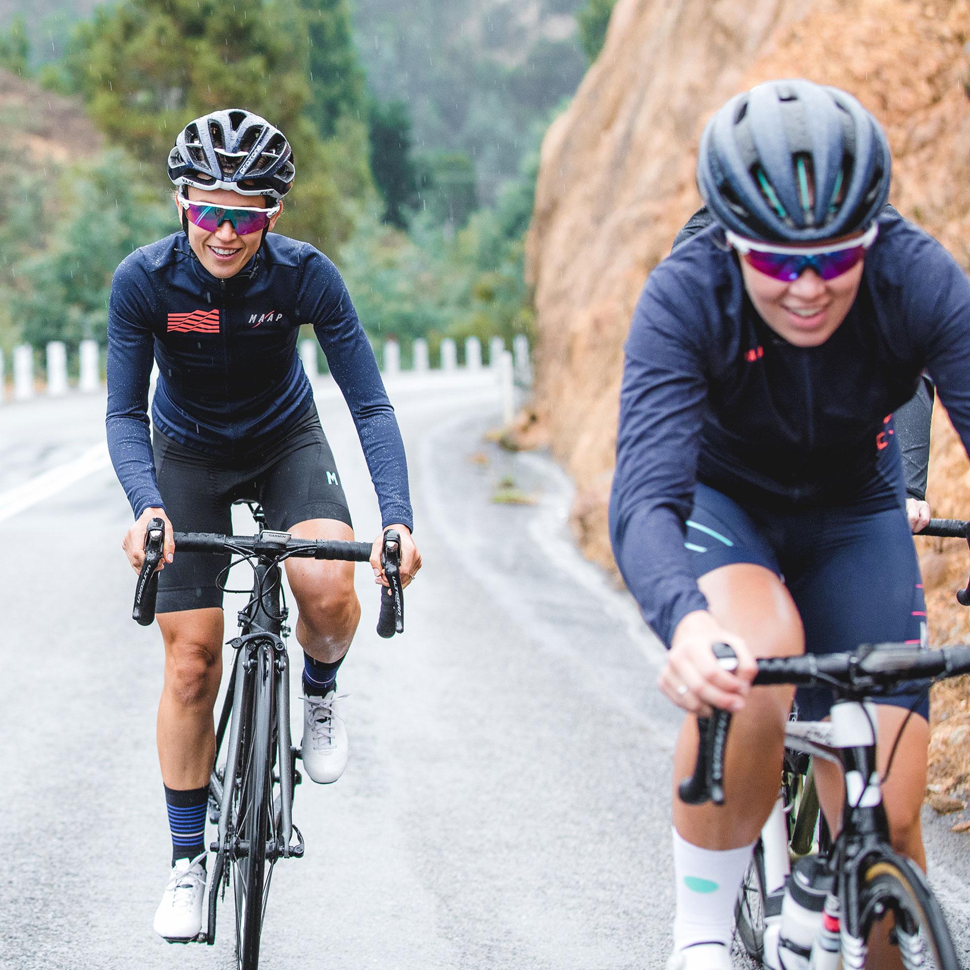 MAAP Cyclists Climbing