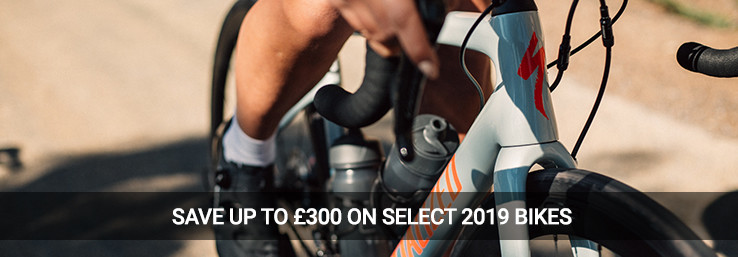 Save up to £300 on select 2019 bikes