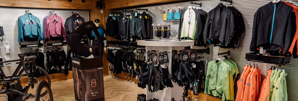 ASSOS area in the Sigma Sports Store