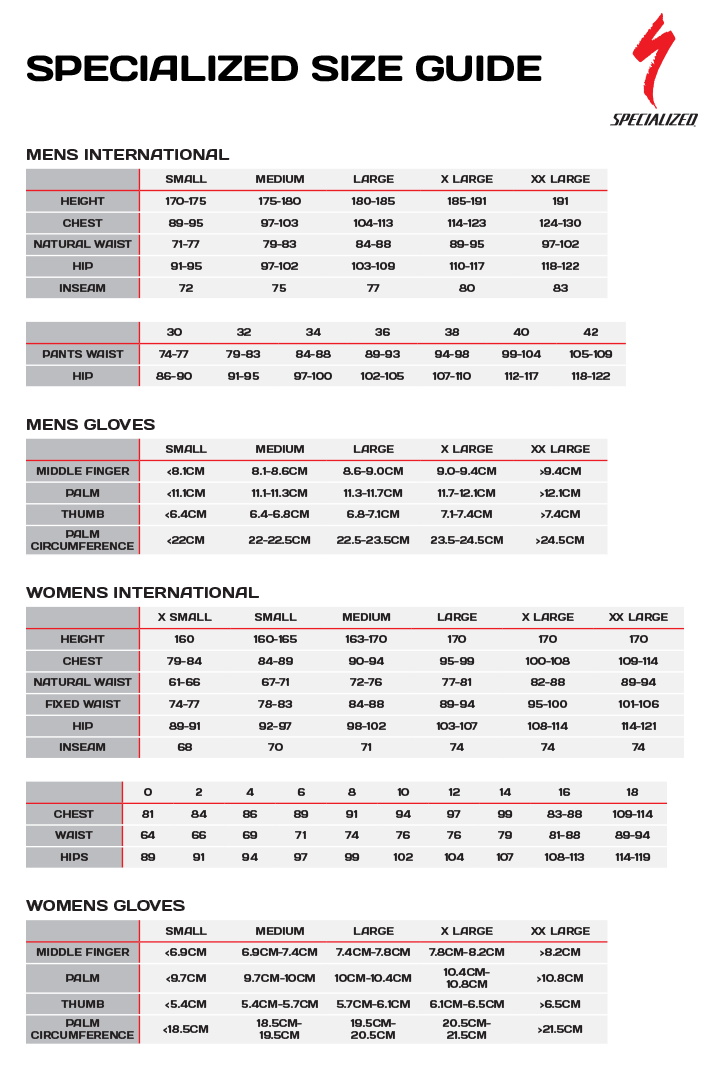Specialized Road Shoe Size Chart