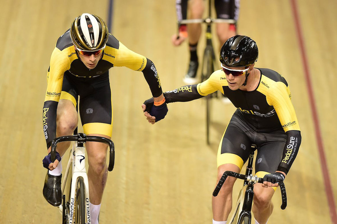 Team PedalSure at Revolution Cycling Championship League (Andy Tennant & Joeri Havik)