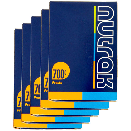 Nutrak 5 X Inner Tubes Presta Valve Bundle (700X18-23C)