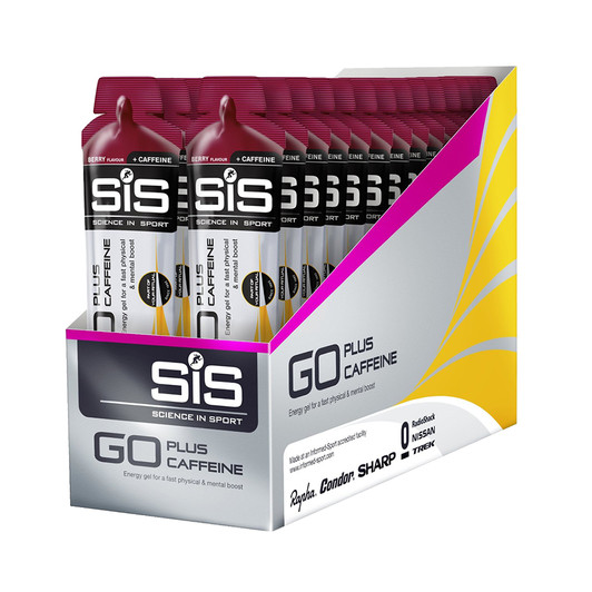 Science In Sport GO Plus Caffeine Gel Box Of 30 X 60ml