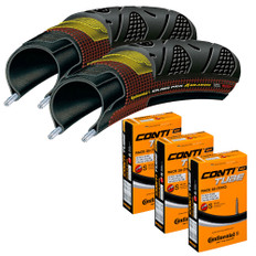 Continental 4 Season 25mm Tyres with Race 28 Inner Tubes Bundle