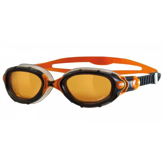 Zoggs Predator Flex Polarized Ultra Goggles Grey/Orange
