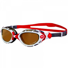 Zoggs Predator Flex Polarized Ultra Goggles White/Silver/Red