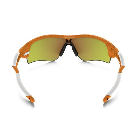 Oakley Radarlock Atomic Orange Fingerprint Sunglasses Iridium Lens