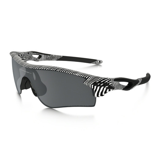 Oakley Radarlock White Fingerprint Sunglasses Black Iridium Lens