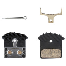 Shimano J04C Metal (Sintered) Pad and Spring with Fin