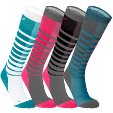 2XU Striped Run Womens Compression Socks