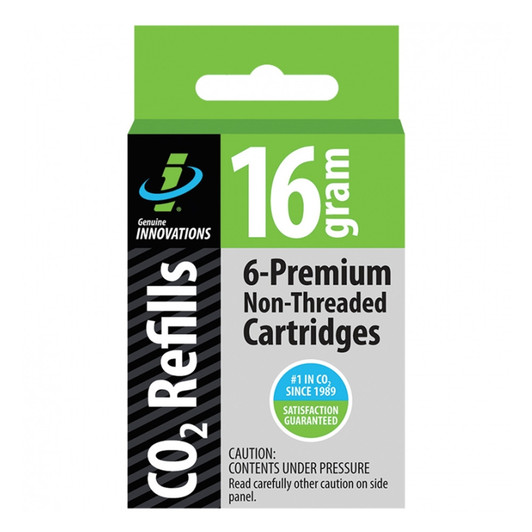 Genuine Innovations CO2 16g Non-Threaded Cartridges 6 Pack
