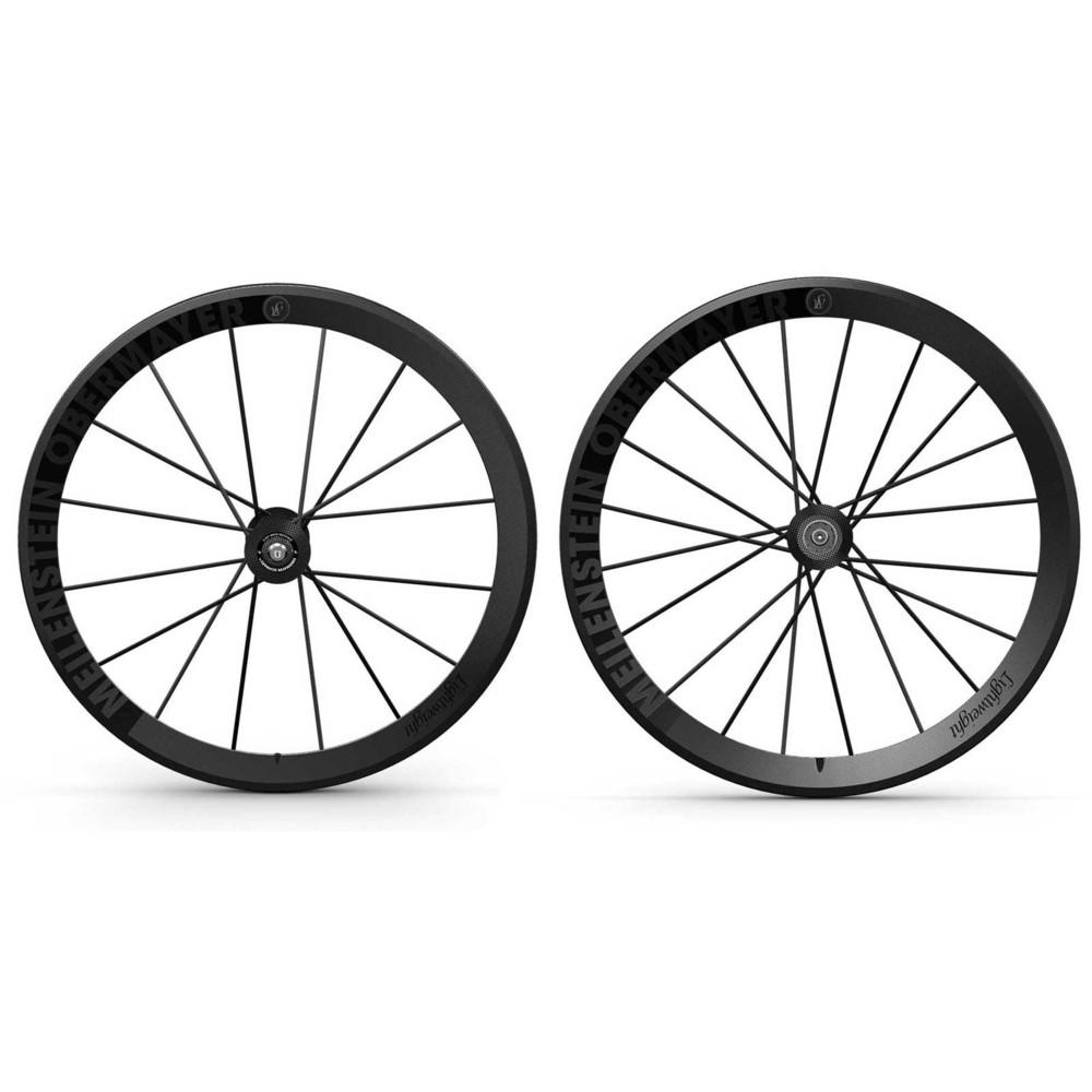 Lightweight Meilenstein Schwarz Edition Clincher Wheelset (20/20)