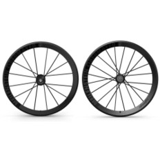 Lightweight Meilenstein Schwarz Edition Clincher Wheelset (20/20)