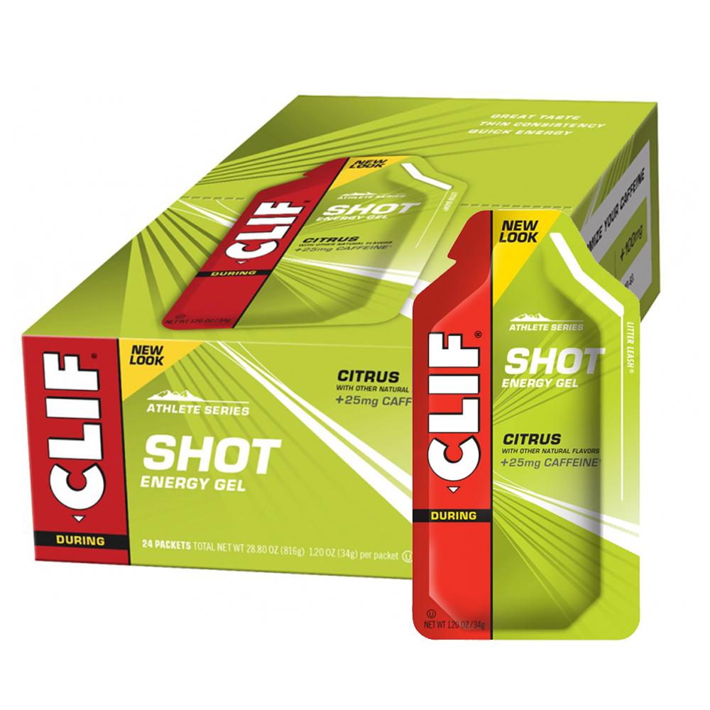 Clif Bar Shot Gel Box Of 24 X 36g Gels