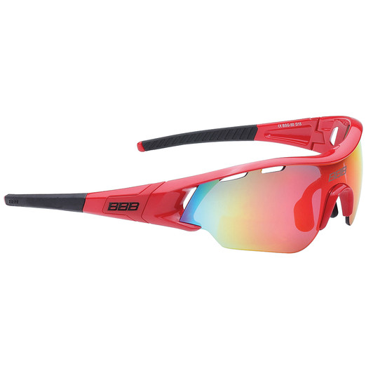 BBB Summit Sunglasses Smoke Red Lens