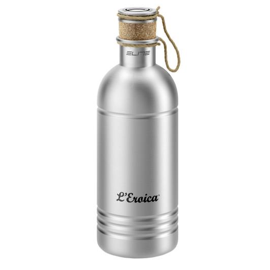 Elite Eroica Aluminium Bottle With Cork Stopper 600ml