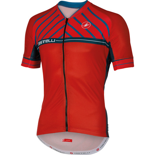Castelli Scotta Full Zip Short Sleeve Jersey