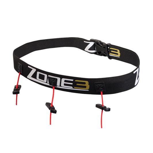 Zone3 Triathlon Race Belt Black/Gold