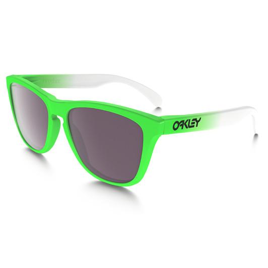 Oakley Frogskin Green Fade Sunglasses PRIZM Daily Polarized Lens