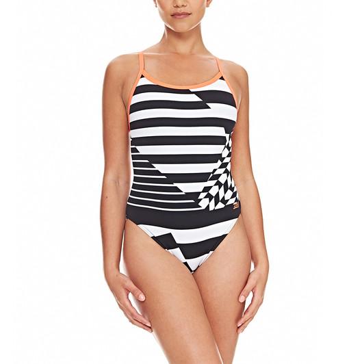 Zoggs Geo Chrome Aquaback Swim Costume